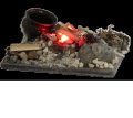 Beduinenlagerfeuer mit LED, Flackerlicht, B: 80 mm  NML