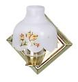 Wandlampe mit Messingwandhalter und Kunststoffschirm