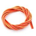 Premium Servo Litze 3x0,25qmm Braun-Rot-Orange 2m