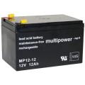 12V / 12 Ah Multipower Blei Akku VDS 4,8mm