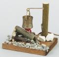 Lagerfeuer mit Kessel, Rauchgenerator und Rauchöl 10 ml