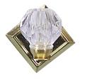 Wandlampe mit Kristallschirm