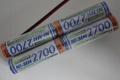 Sanyo HR-3U 2700mAh AA  F2x2x2 Graupner Send.-Akku m. Buchse